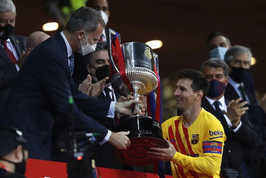 Laporta certain Messi will stay after leading Barca to Cup glory