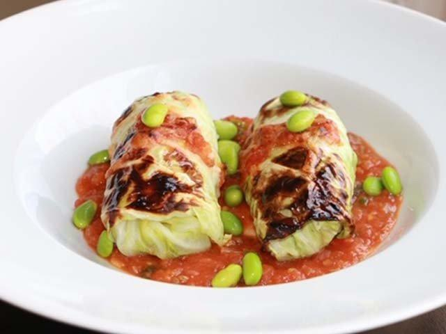 Fusion food at its best: Cabbage rolls stuffed with ground beef