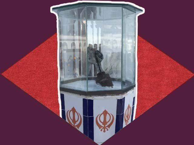 Why is a bomb on display at the Gurdwara Darbar Sahib?