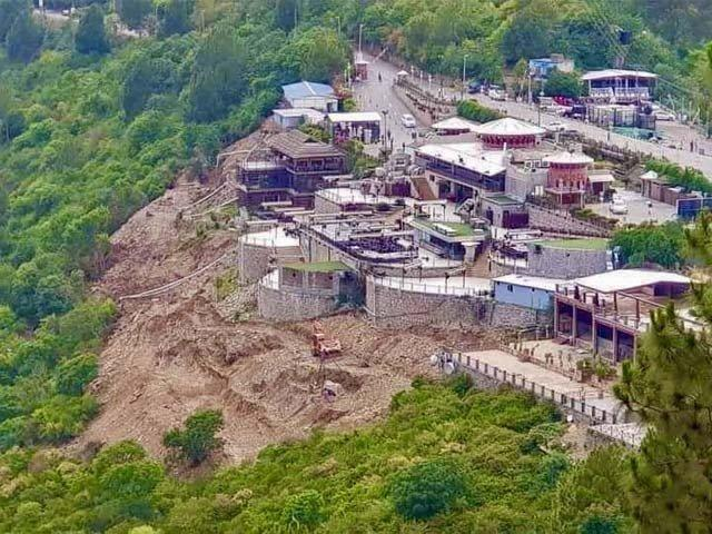 Why is Monal allowed to operate inside a national park?
